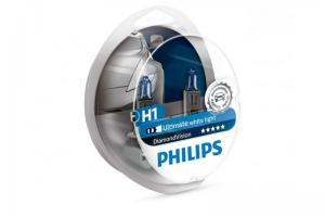 Автолампа 12V PHILIPS H1 55W DiamondVision к-кт 2 шт.