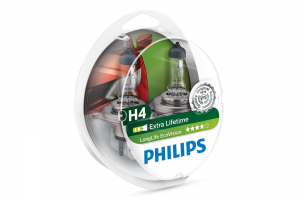 Автолампа 12V PHILIPS H4 60/55W LIifeTime x 4 к-кт 2 шт