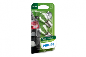 Автолампа 12V PHILIPS P21W LongLife Eco Vision (блистер 2шт.)