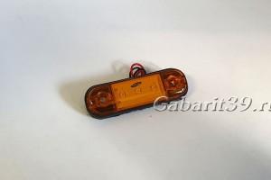 Фонарь габаритный ТАС 160-00 желтый светодиодный