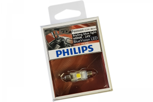 Автолампа 24V PHILIPS C5W BlueVision LED