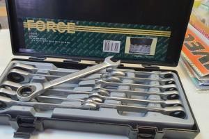 FORCE 51210 Набор ключей трещеточных 12 пр.(8-19 мм)
