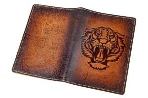 Обложка для паспорта с тиснением (натуральная кожа)