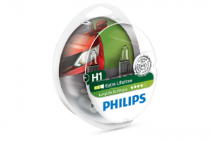 Автолампа 12V PHILIPS H1 55W LIifeTime x 4