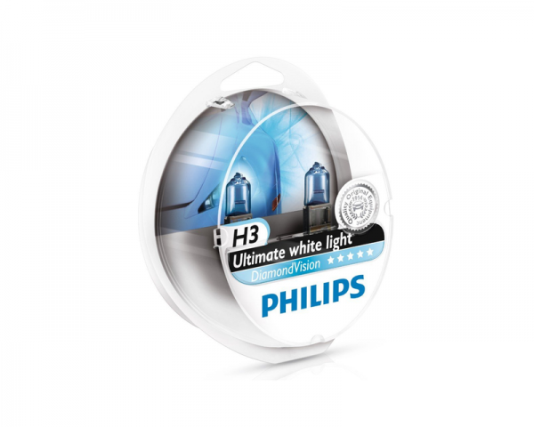 Автолампа 12V PHILIPS H3 55W DiamondVision