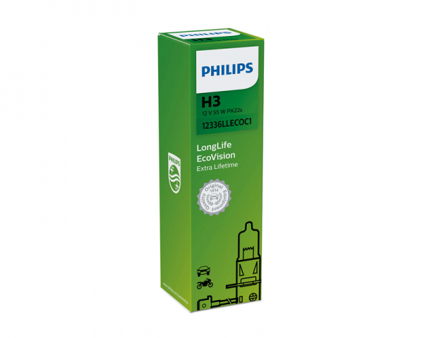 Автолампа 12V PHILIPS H3 55W LIifeTime x 4