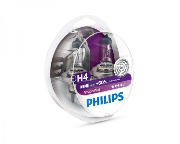 Автолампа 12V PHILIPS H4 60/55W VisionPlus