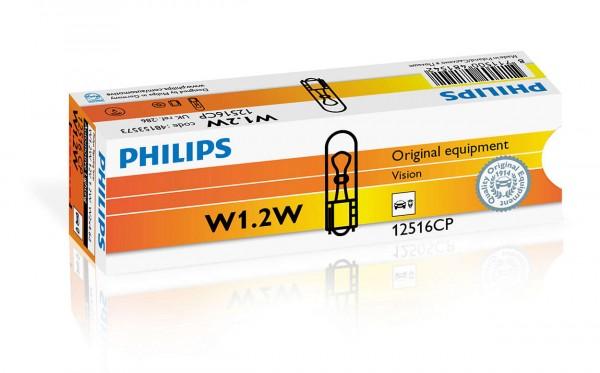 Автолампа 12V PHILIPS W1.2W