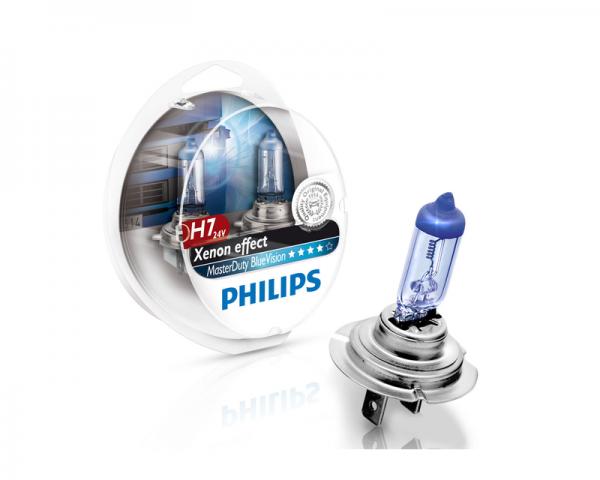 Автолампа 24V PHILIPS H7 70W MasterDuty BlueVision