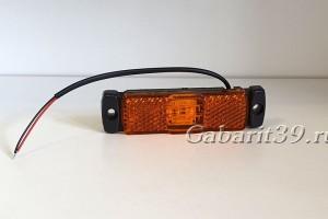Фонарь габаритный ТАС 80-00 желтый светодиодный