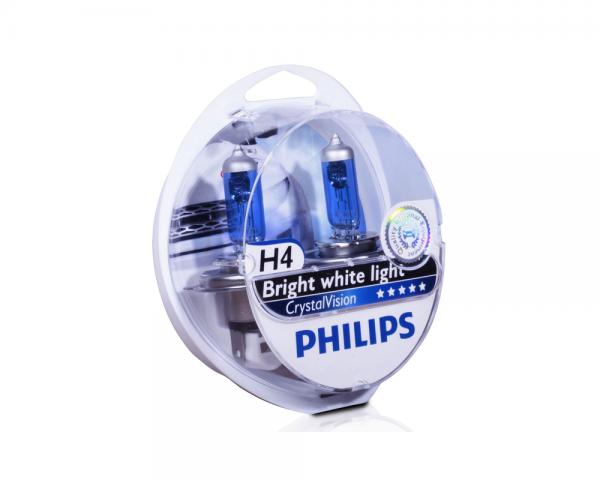 Автолампа 12V PHILIPS H4 60/55W CrystalVision