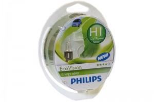 Автолампа 12V PHILIPS H1 55W EcoVision