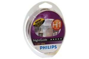 Автолампа 12V PHILIPS H1 55W NightGuide DoubleLife