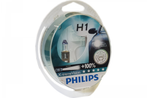 Автолампа 12V PHILIPS H1 55W X-TremeVision