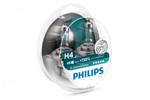 Автолампа 12V PHILIPS H4 60/55W X-TremeVision