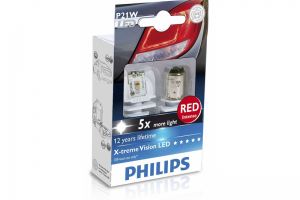 Автолампа 24V PHILIPS P21W RED X-TREME VISION LED